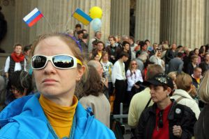 Anti-war march in St Petersburg