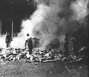 Open pit burning at Auschwitz Birkenau