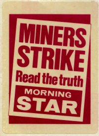 morning star num miners strike stickers a