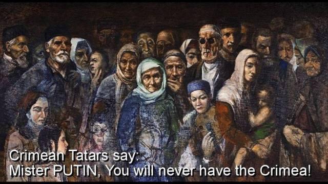 Tatars Putin will never have crimea