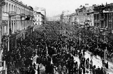 Demonstration Kiev 1917 Feb