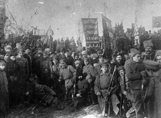 Group of Armed workers from the January Kyiv 'Arsenal' Uprising 1918